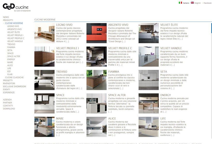 GeD cucine - Siti internet di arredamento Treviso | emmecubo